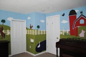 mural suasana peternakan 3