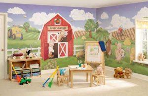 mural suasana peternakan 5