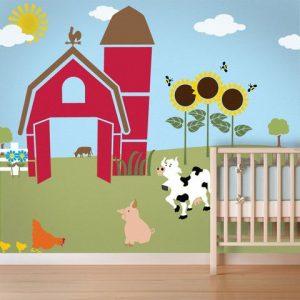 mural suasana peternakan 6