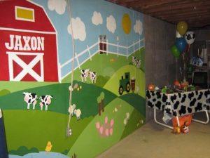 mural suasana peternakan 8