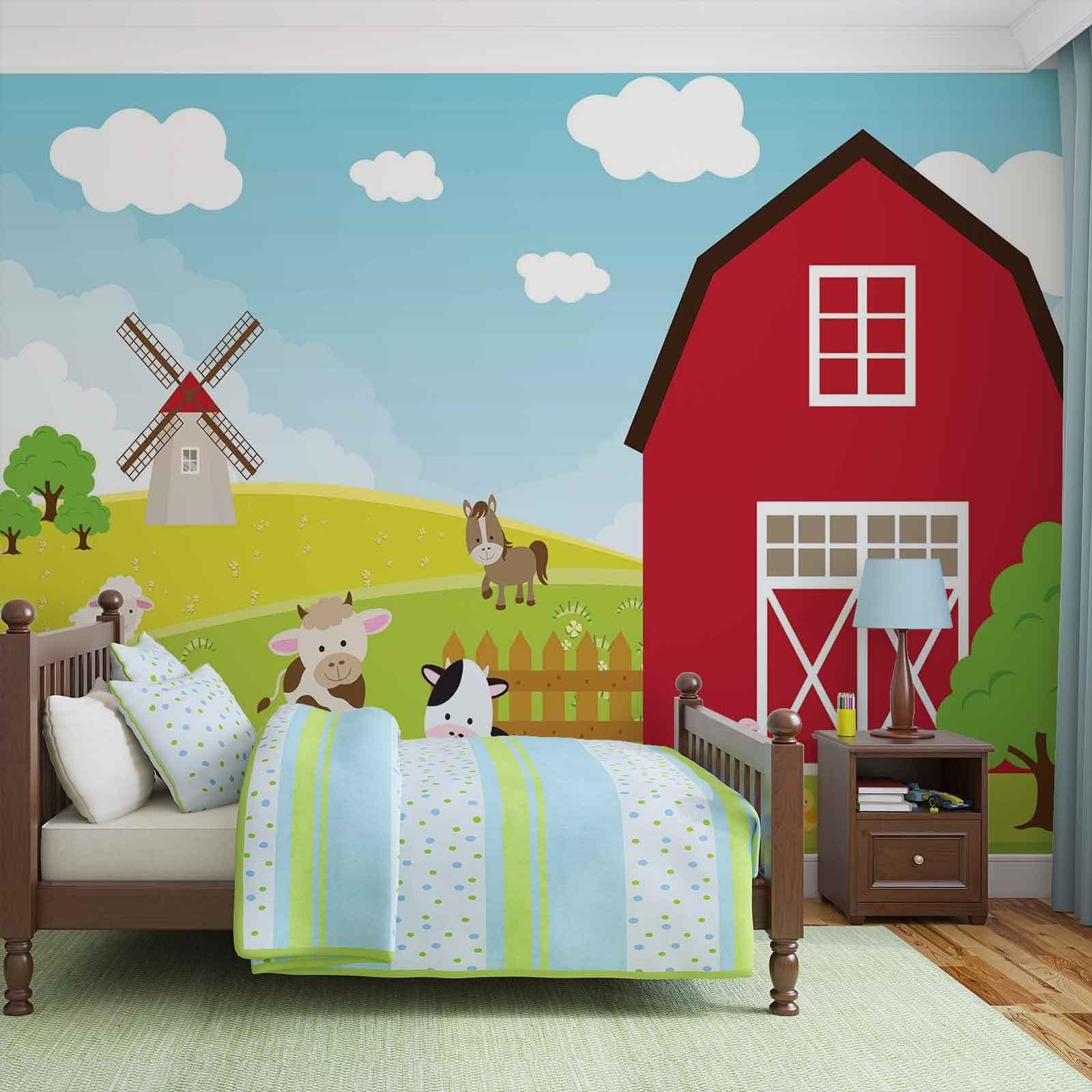 Mural Suasana Peternakan Untuk Menghiasi Kamar Anak