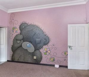 mural teddy bear