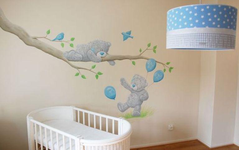 mural teddy bear