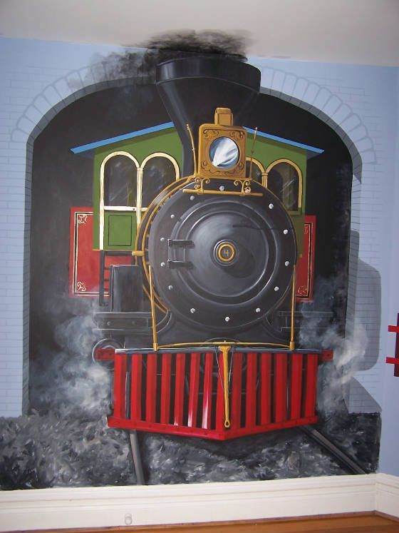 dekorasi kamar bertema kereta api 11