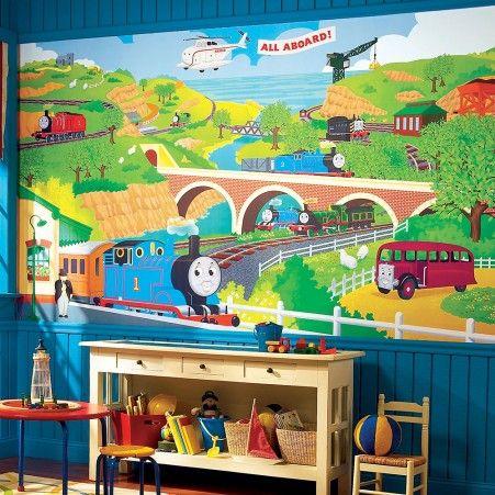 dekorasi kamar bertema kereta api 13