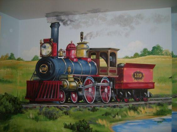 dekorasi kamar bertema kereta api 3