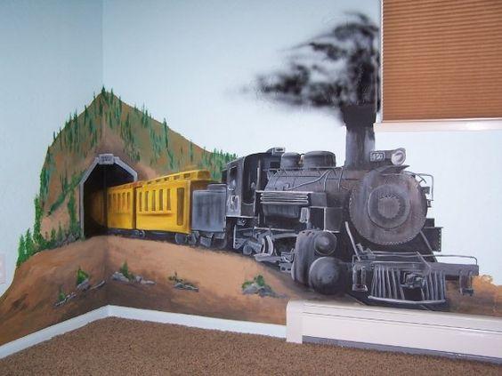 dekorasi kamar bertema kereta api 5