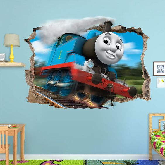 dekorasi kamar bertema kereta api 7