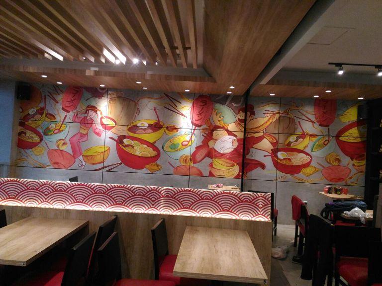 Projek Jasa Mural Depok di Ramen 1 dan Epi House Yang Begitu Unik