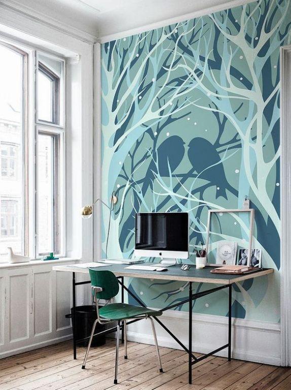 lukisan dinding bertema winter
