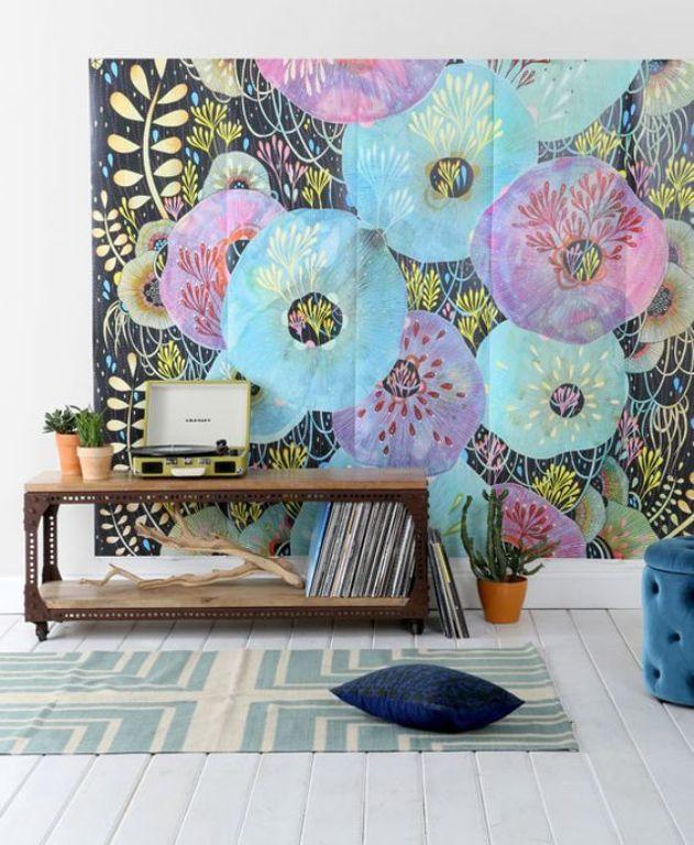 lukisan dinding colorfull