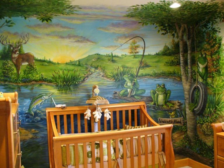 lukisan dinding pemandangan alam untuk dekorasi rumah