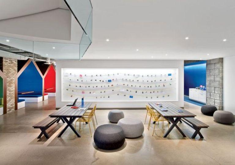 desain kantor ruang terbuka
