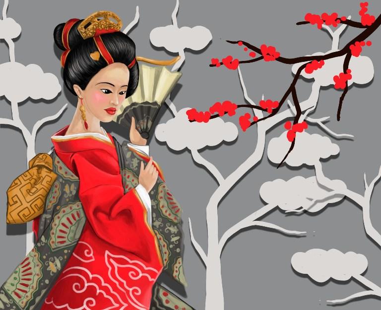 ilustrasi mural emperor
