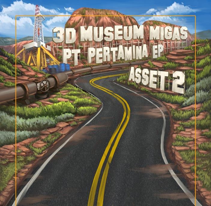 ilustrasi mural 3d
