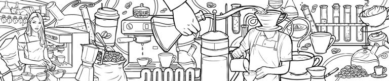 ilustrasi mural caffein cafe