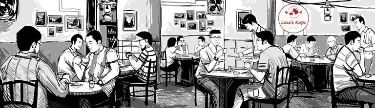 ilustrasi mural hitam putih