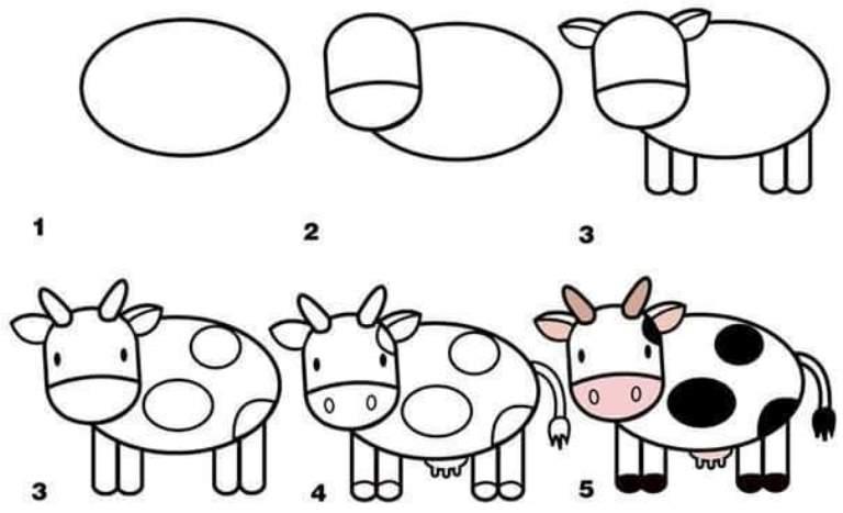 ilustrasi hewan sapi