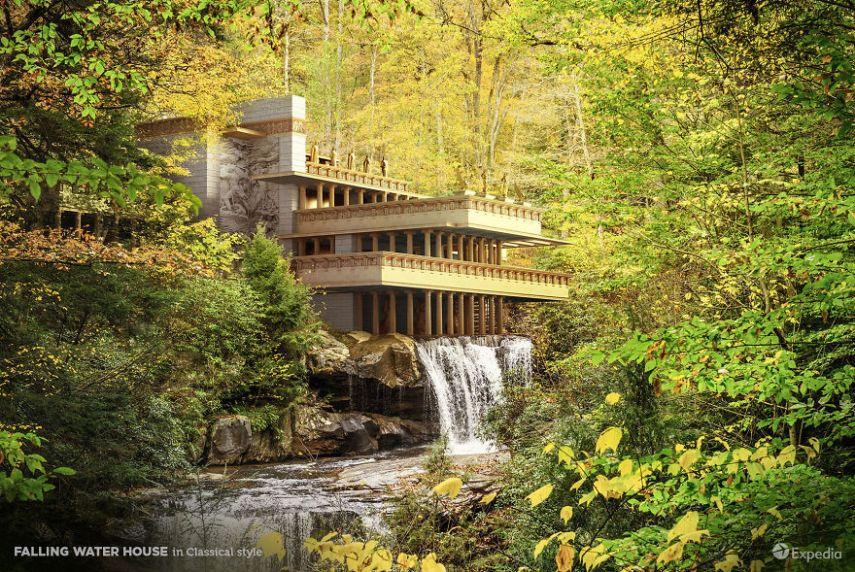bangunan keren fallingwater