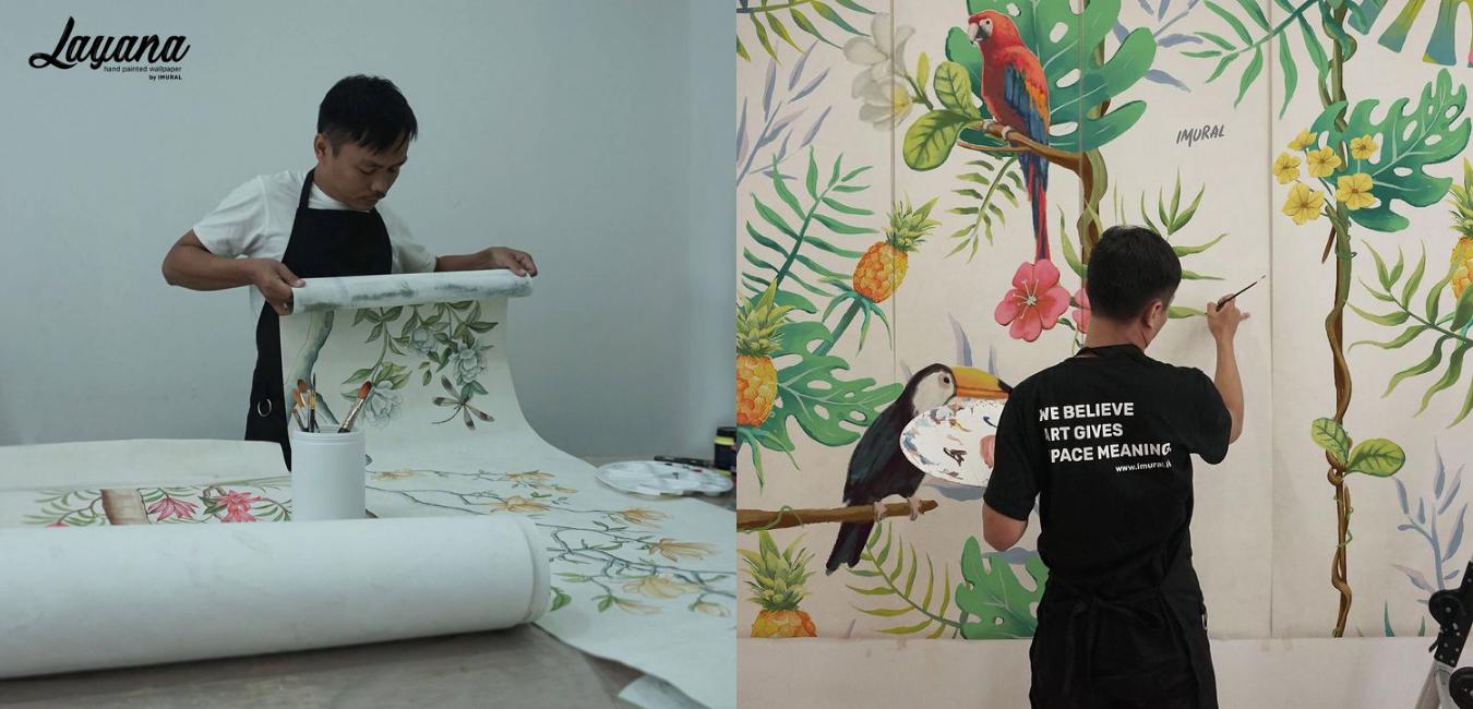 perbedaan proses produksi wallpaper dan mural