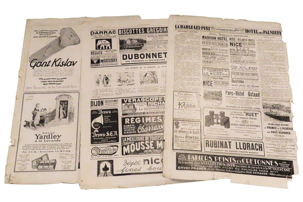 koran, iklan media cetak