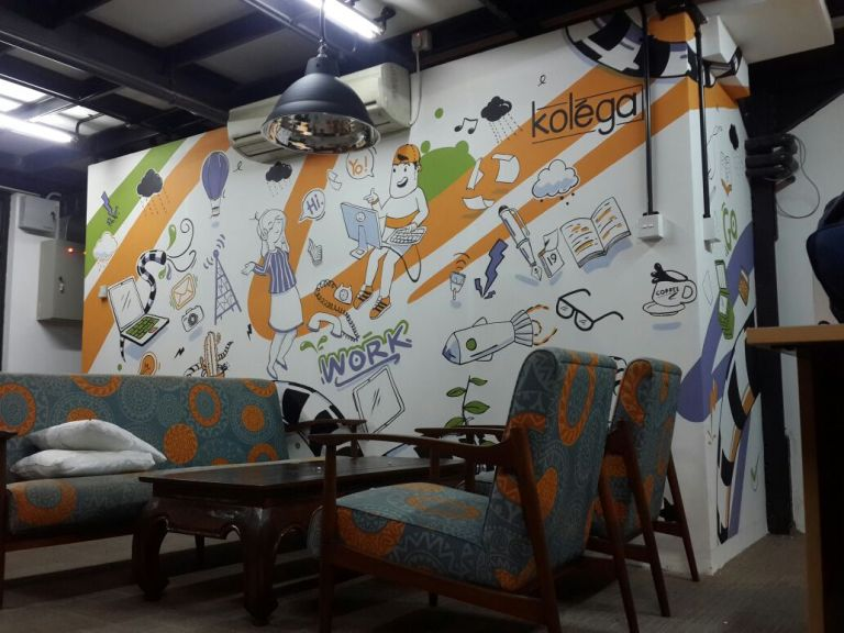 Mural to Decorate Co-Working Space, Creating a Comfortable and Nice Working Room