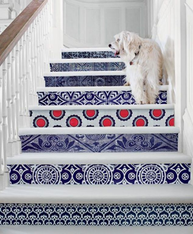 Mural as Stair Decoration, Create a Beautiful and Comfortable House