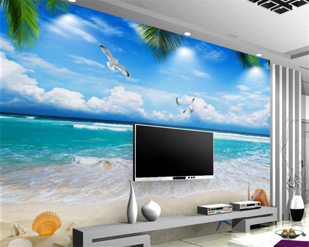 Beach Wallpaper Ideas with Beautiful Blue Sea and White Sand