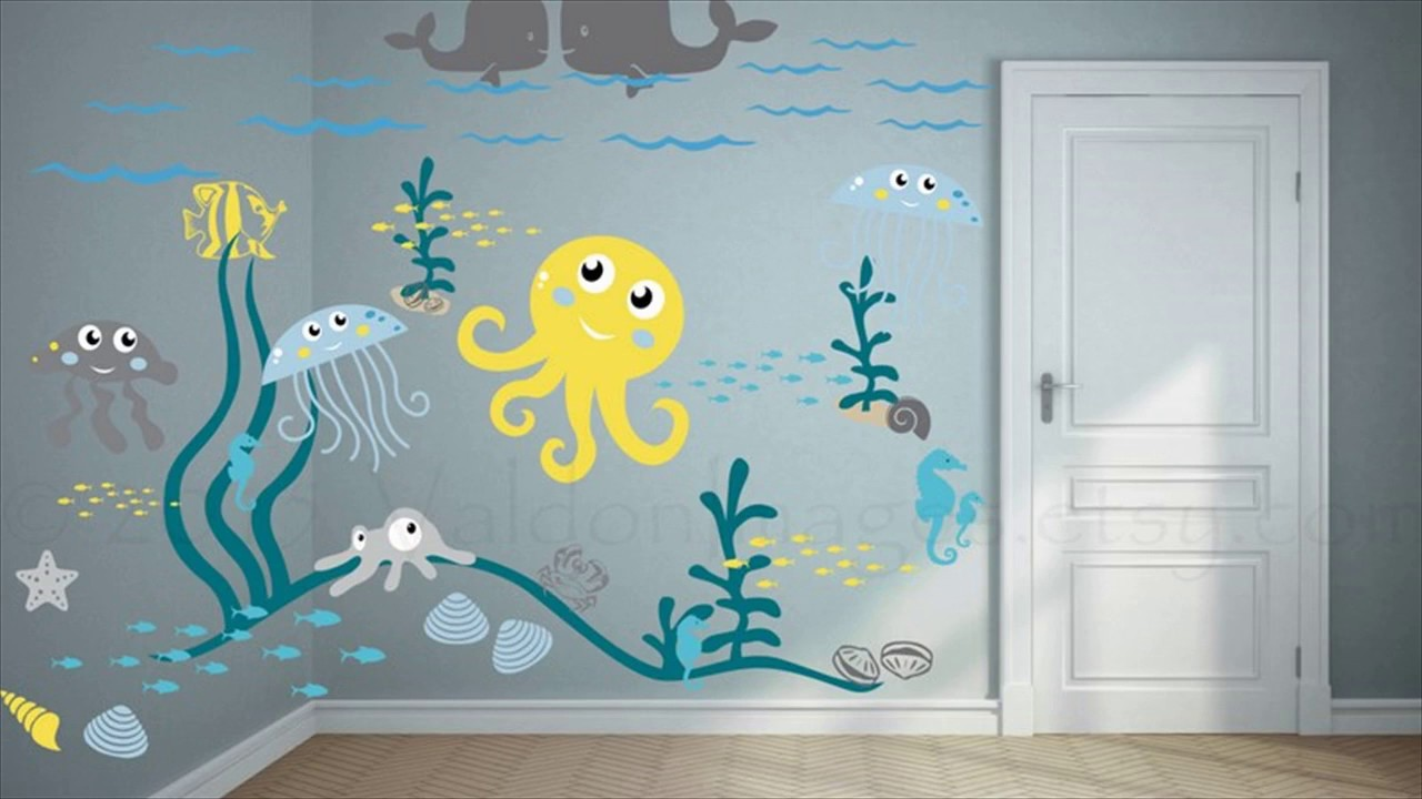 Underwater Mural As a Way to Decorate Your Child's Room