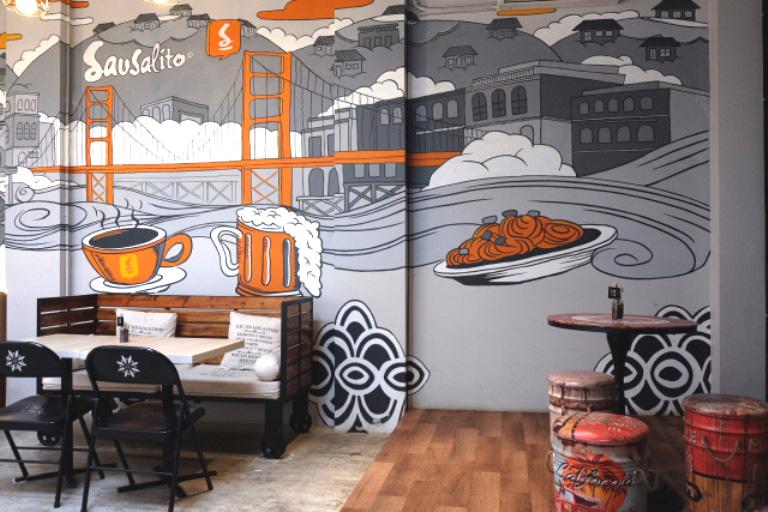 Bekasi Mural Service Project, Create a Modern Restaurant for a Modern Citizens
