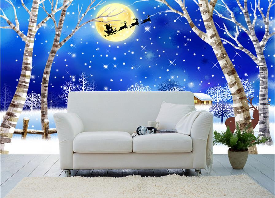 Christmas Mural Ideas for Interesting Christmas Decoration