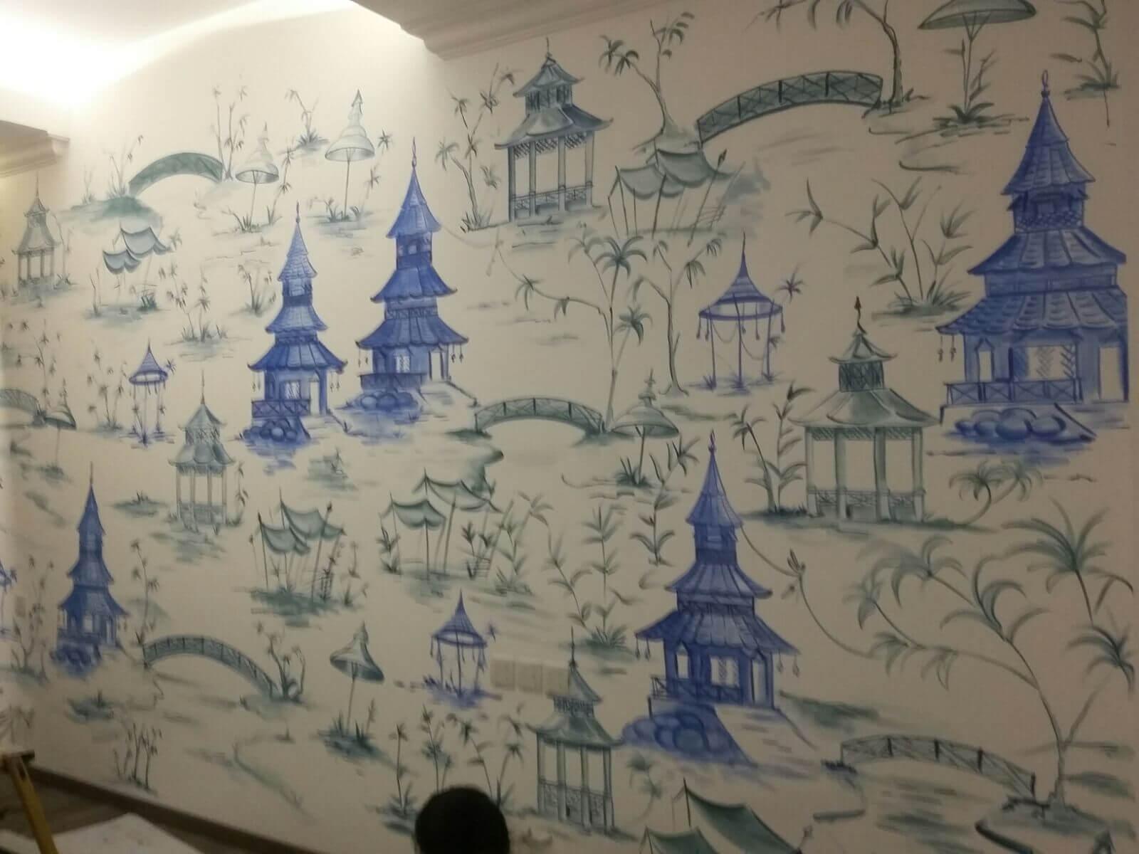Mural Chinoiserie Yang Elegan Untuk Menghiasi Rumahmu