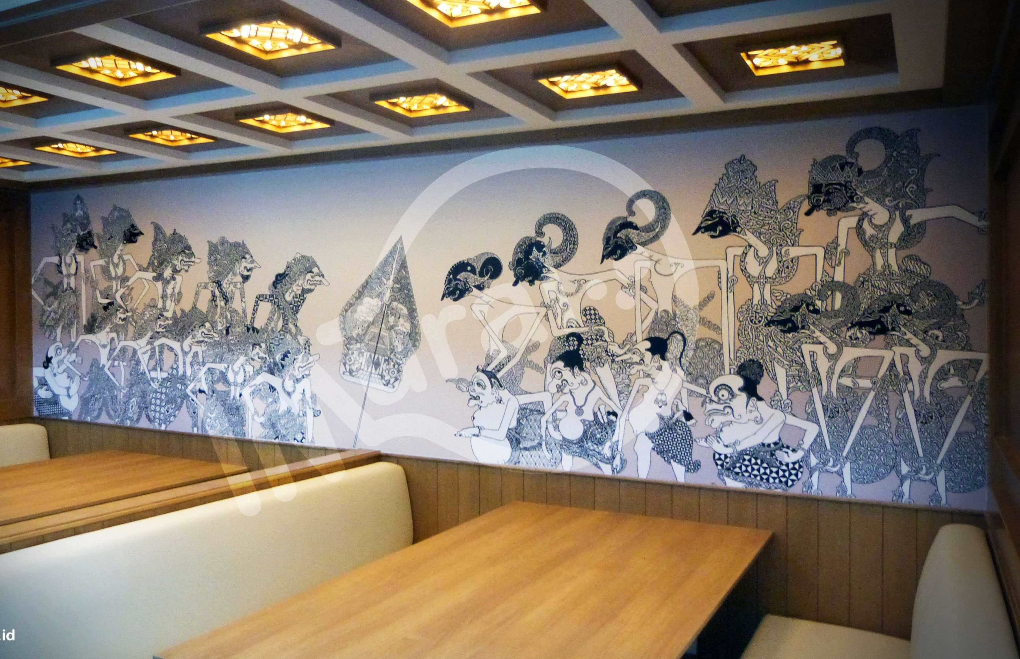 Mural Wayang yang Berlokasi di Bank ANZ Daerah Karet