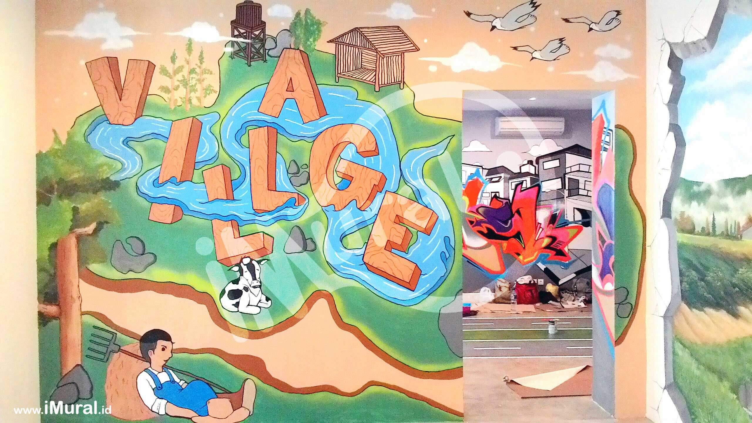 """Mural """"Village"""" di Loop Station, Tempat Hangout Keren Anak Muda"""
