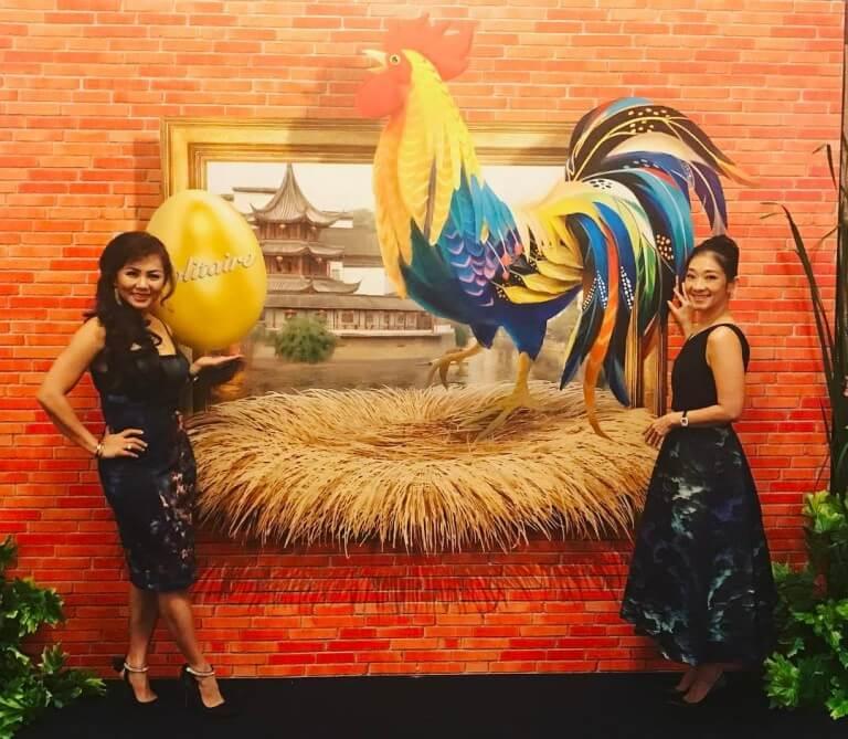 Lukisan 3D Ayam Tahun Baru Imlek