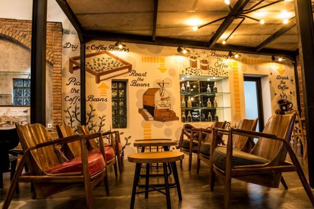 dekorasi cafe vintage
