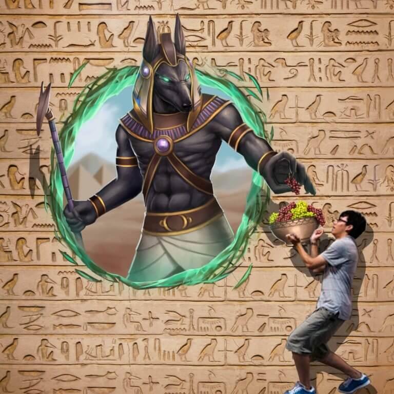 3D Trick Art Anubis