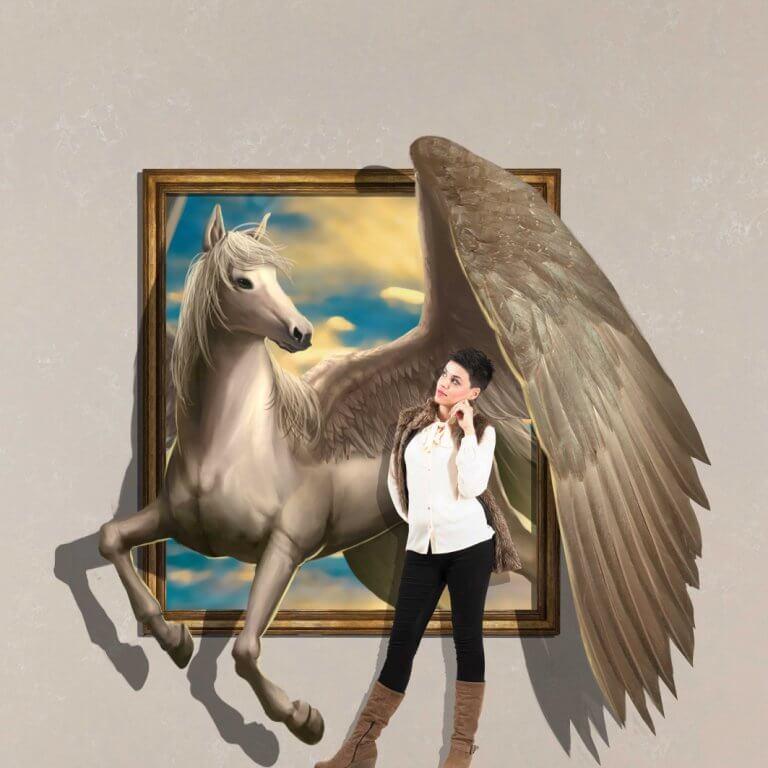 3D Trick Art Pegasus