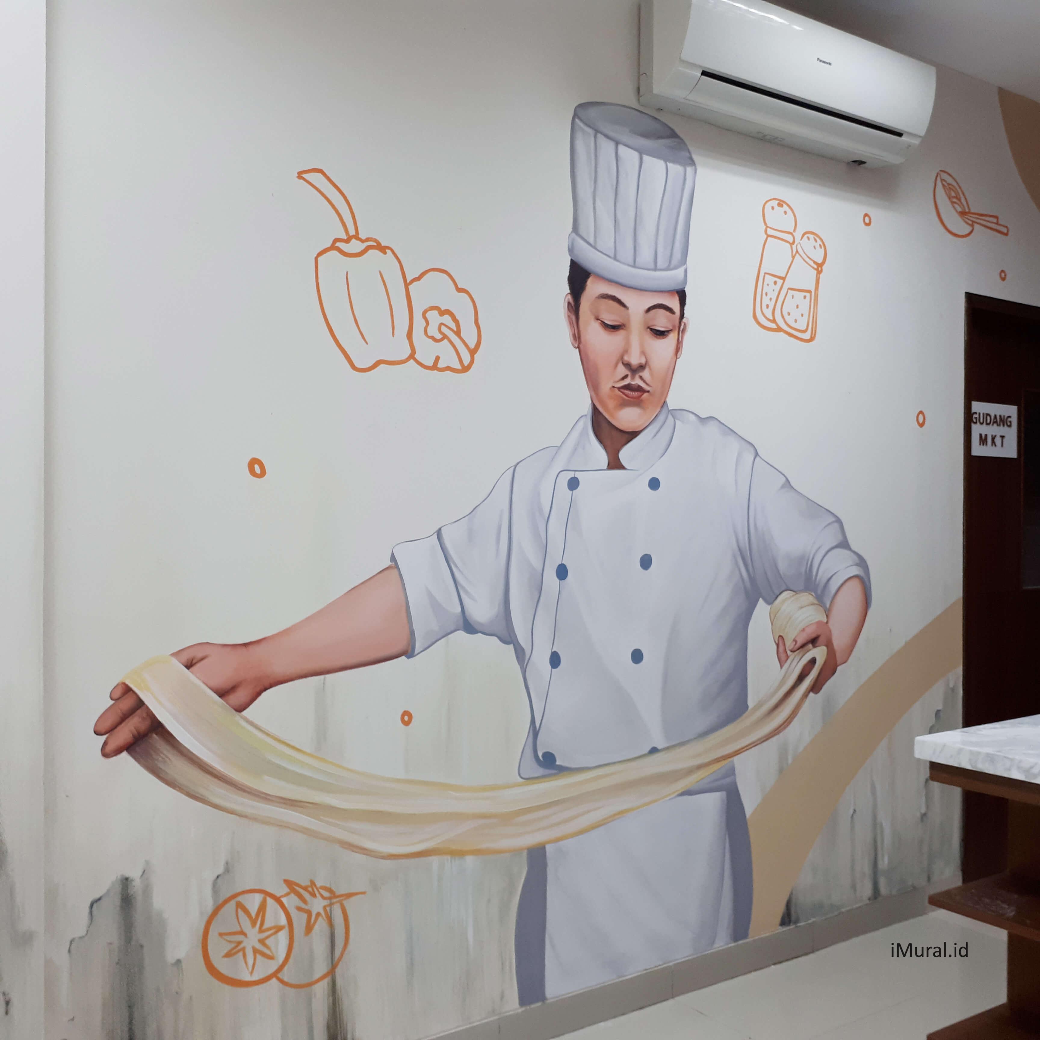 Mural Koki di Kantor Boga SCBD
