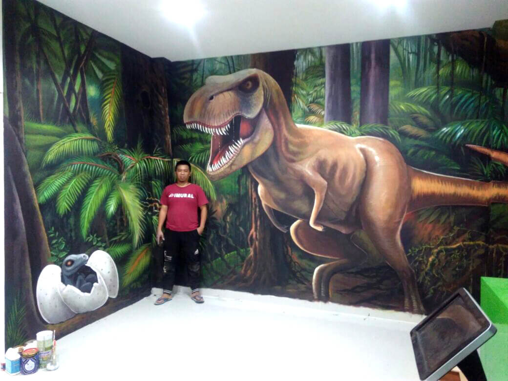3d Dinosaur Mural