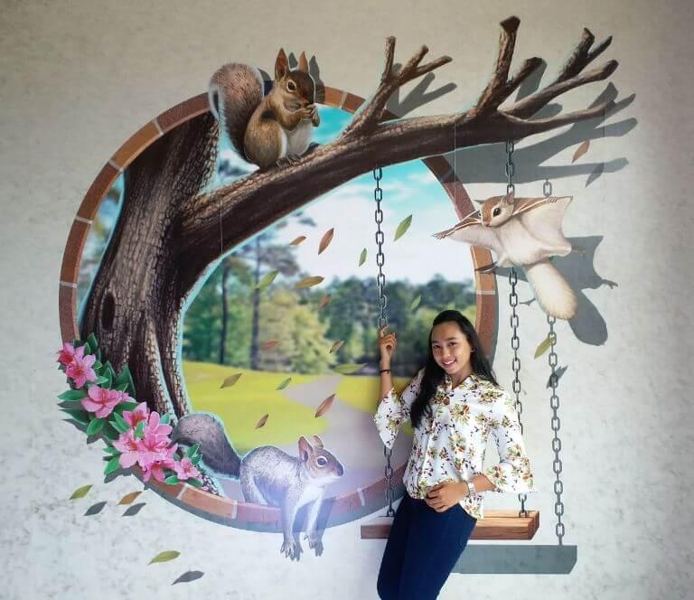 lukisan dinding 3d pemandangan alam
