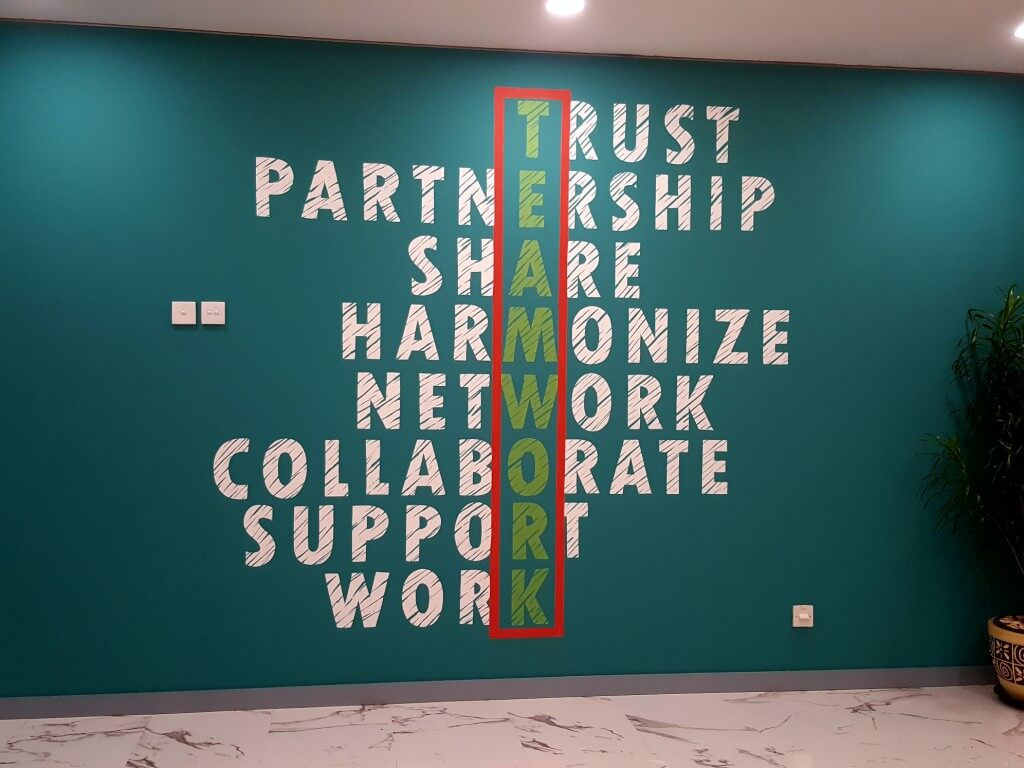 Mural Typography at Sinarmas Office